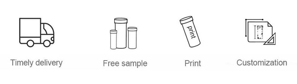 48мм тубус пластиковый теста полосок для глюкометра