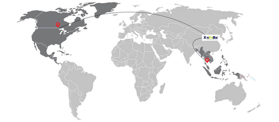 Упаковка шипучих таблеток экспортируется в Северную Америку и Юго-Восточную Азию и другие страны