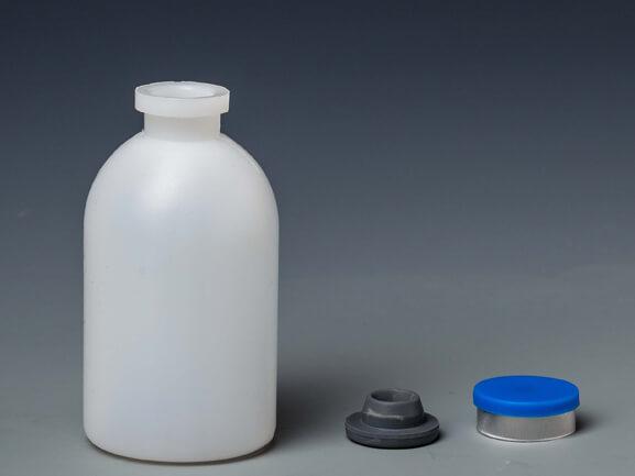 Бутылка 50 мл с резиновой и алюминиевой крышкой b19